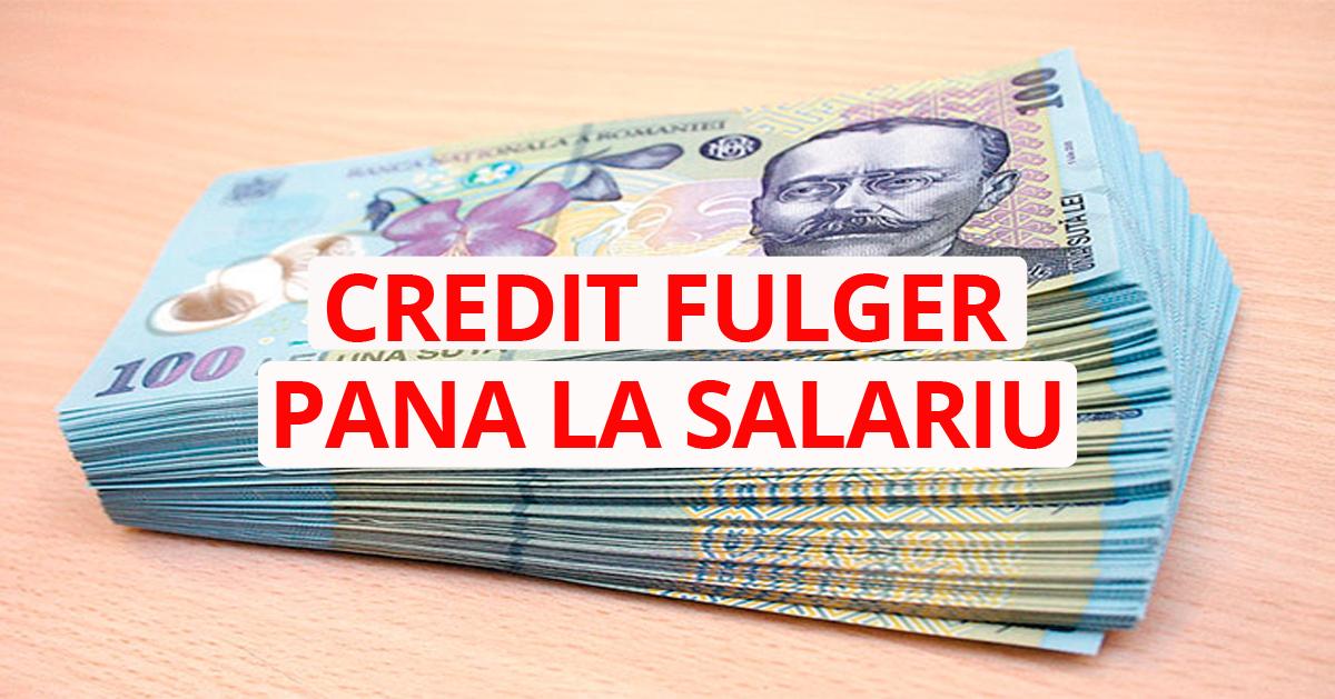 Credite Fulger Până La Salariu. Unde aplicăm?